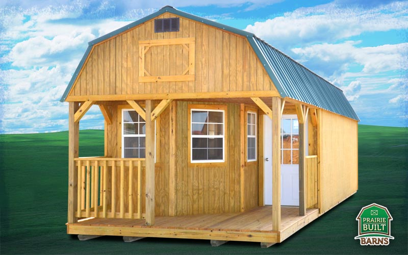 Treated Deluxe Lofted Barn Cabin | Prairie Built Barns