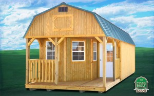 Prairie Built Treated Deluxe Lofted Barn Cabin