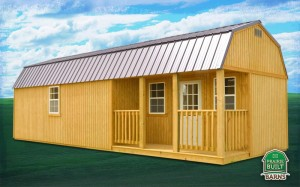 Prairie Built Treated Side Lofted Barn Cabin